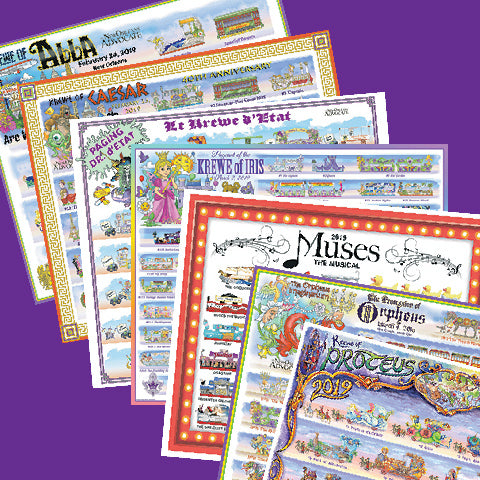 2019 Carnival Bulletin Set on Newsprint