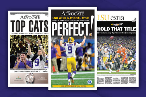 no frame The Advocate Lsu Claims sec title Champs Sport Poster home decor
