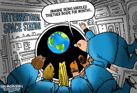Limited Edition (50) Cartoon from Walt Handelsman - Huddled Together