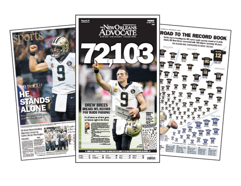 Set of 3 Drew Brees Commemorative Reprints!