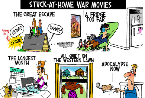 Limited Edition (50) Cartoon from Walt Handelsman - War Movies