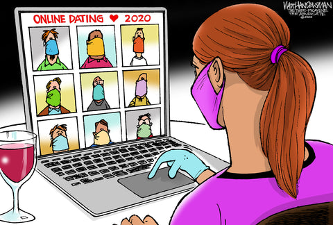 Limited Edition (50) Cartoon from Walt Handelsman - Online Dating