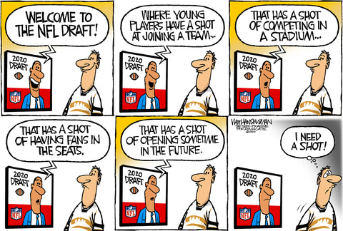 Limited Edition (50) Cartoon from Walt Handelsman - NFL Draft