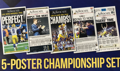 5-Poster Championship Set: PERFECT!, SIMPLY THE BEST, SEC CHAMPS, SECOND TO NONE, TIGERS' TIME