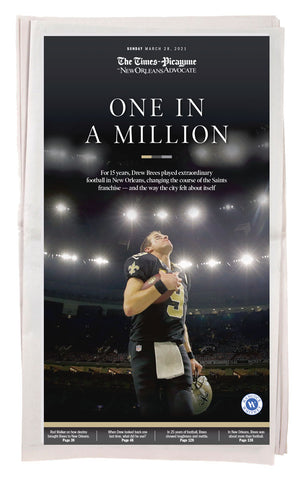 One in a Million - Drew Brees Commemorative Special Section: Full Newspaper