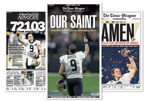 Drew Brees - Three-Poster Commemorative Set