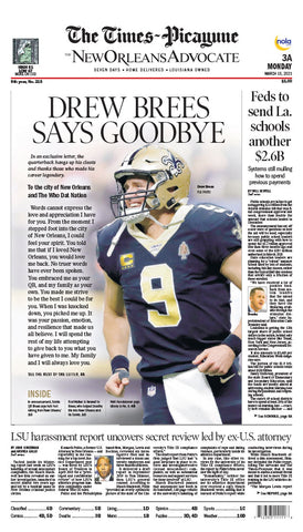 Drew Brees Says Goodbye - Commemorative retirement poster