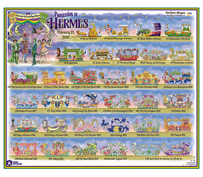 Procession of Hermes - 2020 Carnival Bulletin Poster