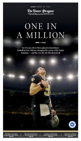 One in a Million - Commemorative Drew Brees Special Section front page