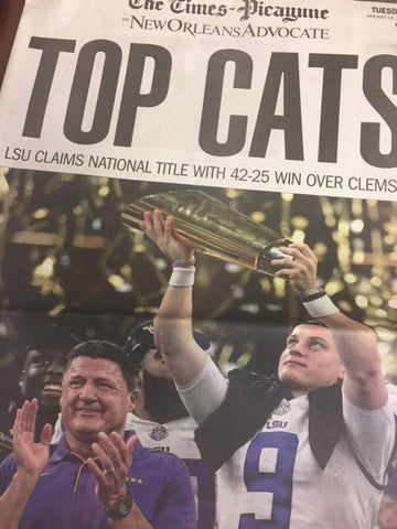 LSU Wins National Championship Times-Picayune Newspaper