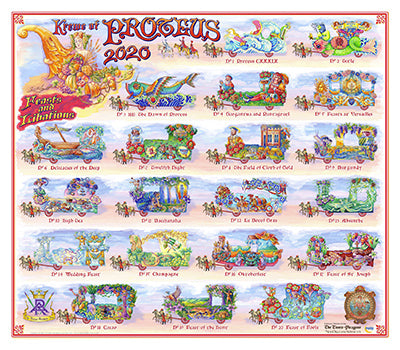 Krewe of Proteus - 2020 Carnival Bulletin Poster