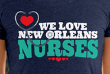 We Love New Orleans Nurses - Women's Form-Fitting Short Sleeve T-Shirt