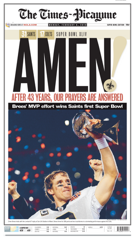 AMEN - The Saints win the Super Bowl