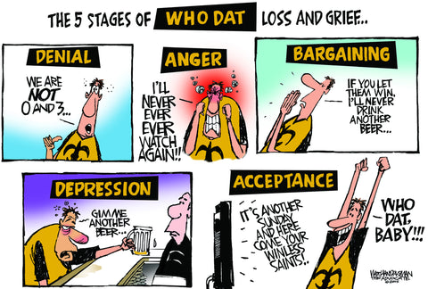 5 Stages of Who Dat
