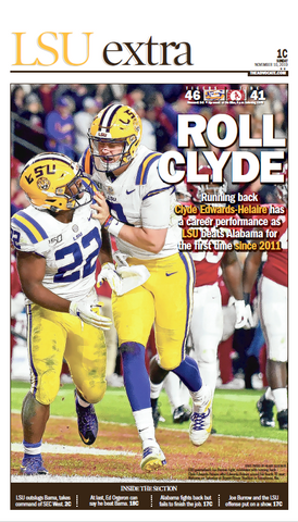 LSU vs. Alabama 2019 - ROLL CLYDE!