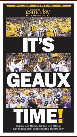 Game day LSU vs. Alabama 2019 - IT'S GEAUX TIME!
