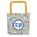 T-P New Orleans icons tote bag