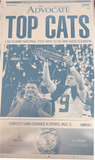 Replica newspaper aluminum plates - 1A of the 2020 National Championship, TOP CATS
