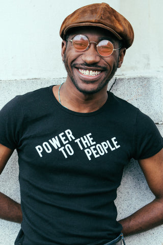 NEW! Power To The People Old School Ribbed Tee