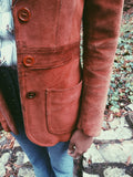 Inspiration Information 1970's Rust Suede Jacket