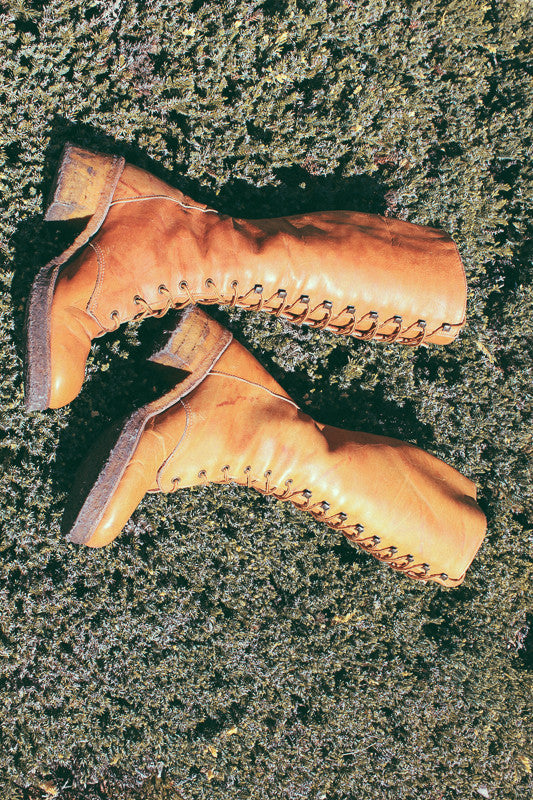 1970's Zodiac Lace-Up Leather Campus Boots