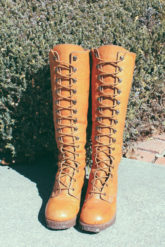 1970's Zodiac Lace-Up Leather Campus Boots - The Power Plant
