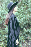 Witch's Brew 1970's Black Velvet Psychedelic Duster