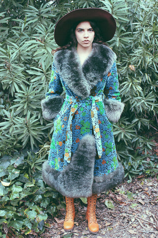 Psychedelic Spring 1960's One Of A Kind Tapestry Coat - The Power Plant