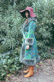 Psychedelic Spring 1960's One Of A Kind Tapestry Coat
