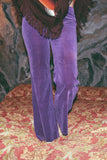 Galactic Gaze 1960's Purple Velvet Hip Hugger Bell Bottoms