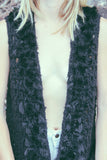 Midnight Hour 1970's Faux Fur Trimmed Vest