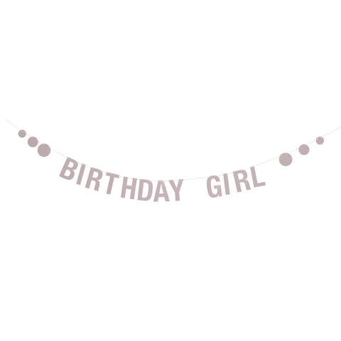 Guirlande - birthday girl - rosa