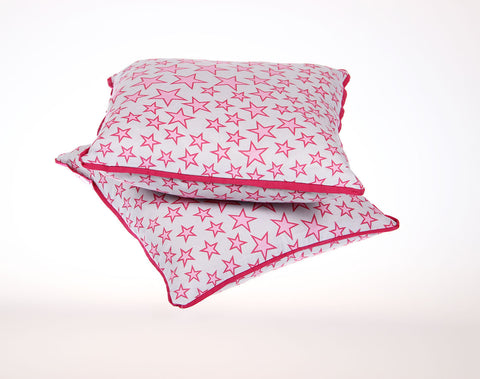 Pude 40 x 40cm - star love pink