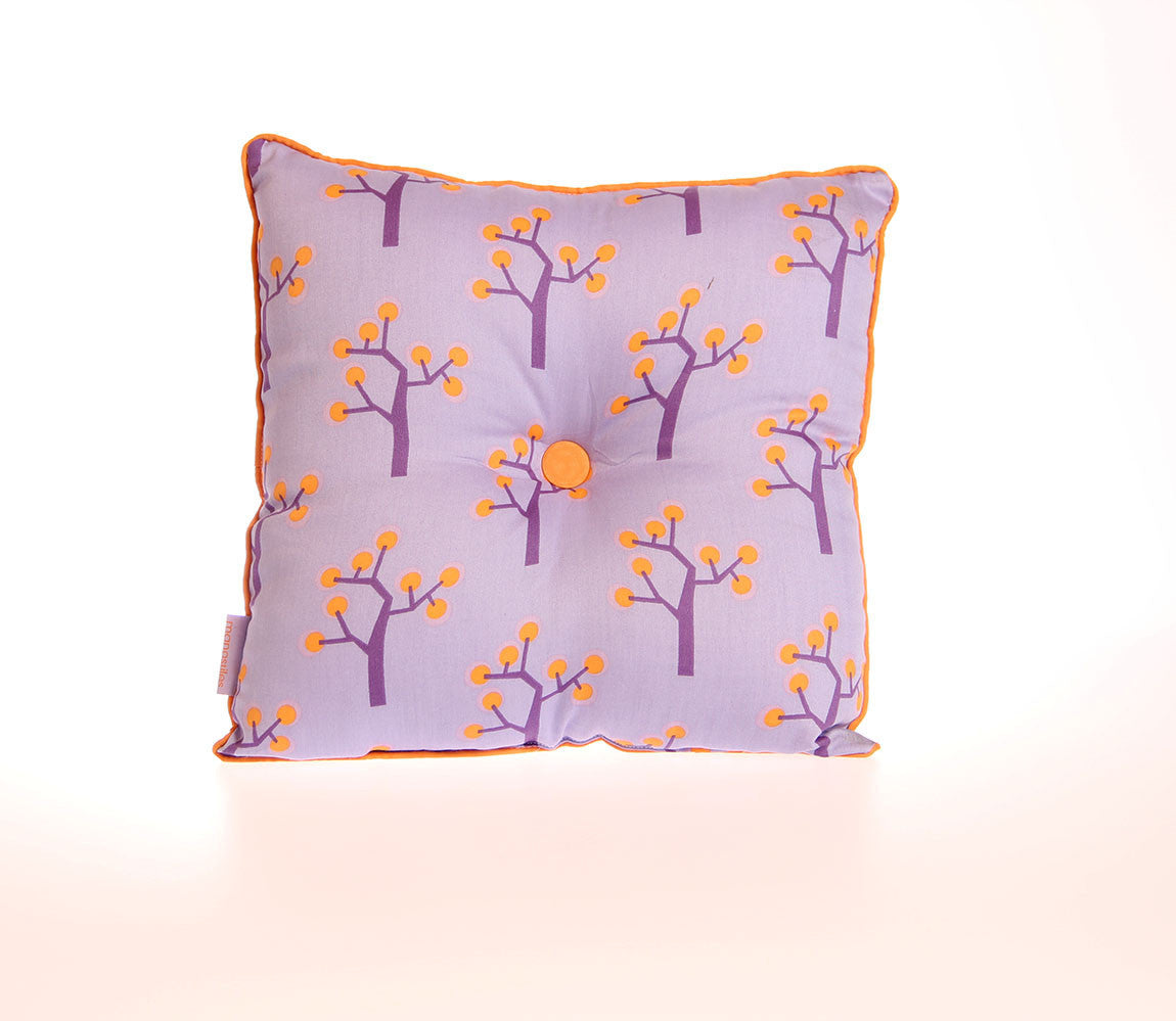 Pude 35 x 35cm - graphic tree purple - kidzROOM