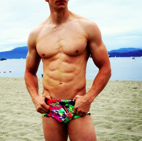 Men's Neon Print Swim Brief