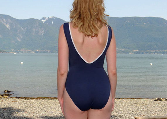 Nautical Scooped Swimsuit