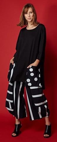Alembika 'circles n stripes' tunic pantset
