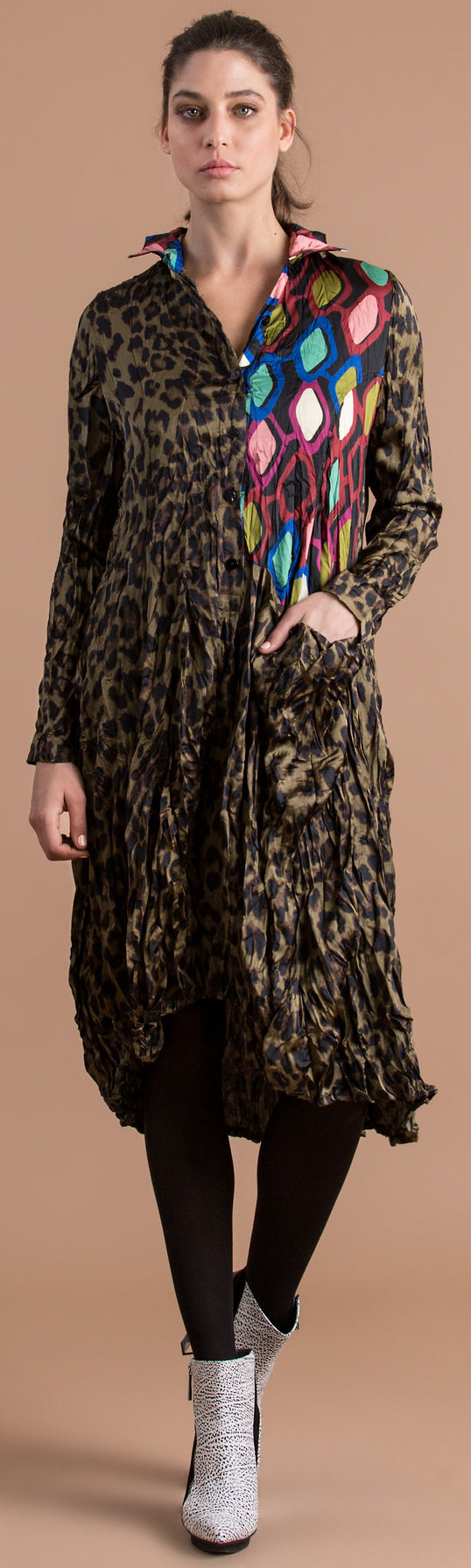 Alembika Leopard Shirtdress