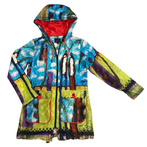 Packable Artist Print Raincoat