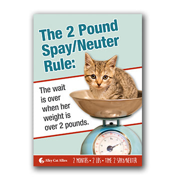 2 Pound Spay Neuter Postcard (5 pack)