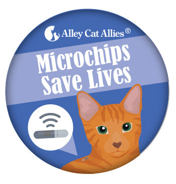 Microchips Save Lives Button (5 pack)