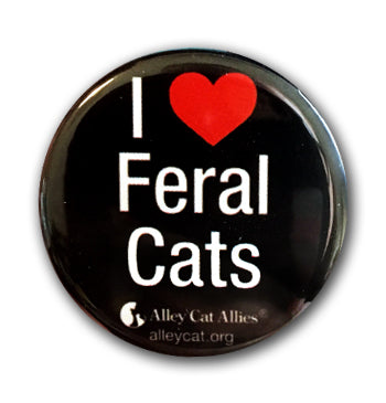 I Heart Feral Cats Buttons (5 pack)