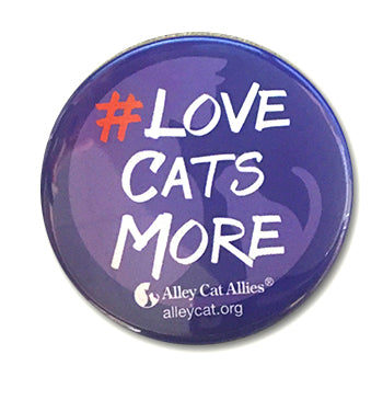 #LoveCatsMore Buttons (5 pack)