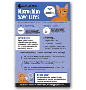 NEW! Microchips Save Lives Poster