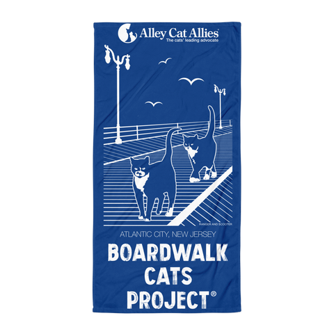 NEW! Boardwalk Cats Project® Beach Towel