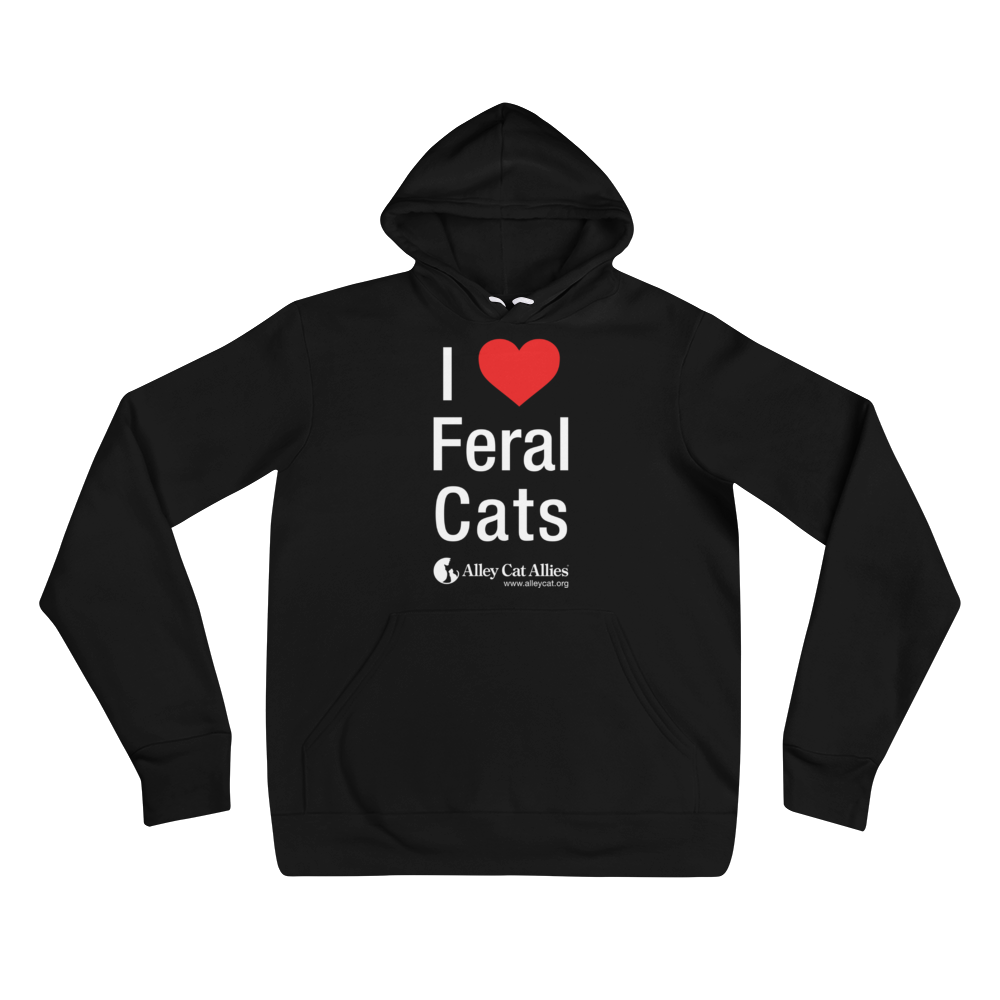 NEW! I Heart Feral Cats Unisex Hoodie
