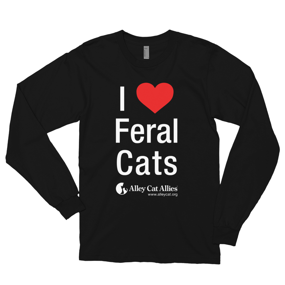 NEW! I Heart Feral Cats Long Sleeve T-shirt
