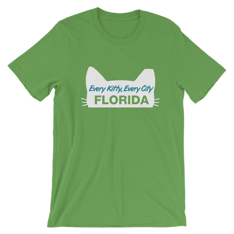 LIMITED EDITION! Every Kitty Every City Florida Short-Sleeve Unisex T-Shirt