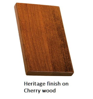 Heritage finish on Cherry wood