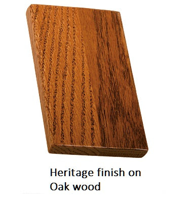 Heritage finish on Oak wood